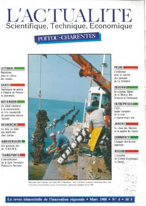 L'Actualité Scientifique, Technique, Économique Poitou-Charentes, numéro 4, mars 1988